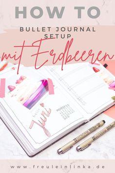 Du suchst noch ein Thema für dein Bullet Journal. Wie wäre es mit Erdbeeren. Ich zeige Dir mein Juni Setup mit den süßen Früchten auf meinem Blog freuleinlink.de Zebra Mildliner, Juni, Blog, Knit Gifts, Bullet Journal Ideas, Strawberries, Make Your Own, Blogging