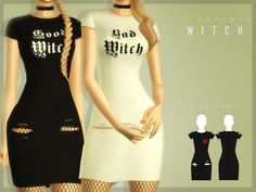 Official Post from New Mesh All Lods 6 Swatches Teen to Elder Base Game Compatible Inspired Dolls Kills CustomThumbnail Halloween Gift Sims 4 Mods Clothes, Sims 4 Clothing, Sims Mods, Female Clothing, Sims 4 Wedding Dress, The Sims 4 Download, Download Cc, Witchy Outfit, Sims 4 Teen