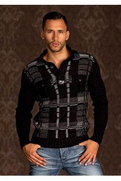 Pullover Homme noir tendance