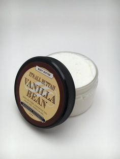 Our Vanilla Bean Body Butter has a smooth creamy texture that melts effortlessly into the skin. Scent Description: Sweet vanilla bean ice cream. The scent is delicate and not overpowering. Works well with other mild scents. Ingredients Organic Refined Shea Butter Grapeseed Oil Coconut Oil Vanilla Essential Oil Phthalate Free Fragrance  All of our body butters are made to order. Please allow 5-7 days for your Vanilla Bean Body Butterto be created and packaged. Sample order requests…