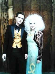 "Brandon Flowers and Izabella Miko on the set of ""Mr.Brightside"""