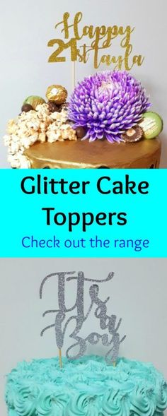 New wedding cakes blue and silver gold glitter Ideas