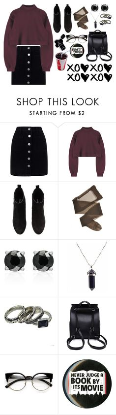 """5:40 AM"" by queen-of-disasterxxi ❤ liked on Polyvore featuring Miss Selfridge, H&M, Effy Jewelry, Chanel and Hot Topic"