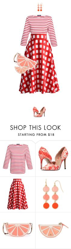 """Fresh Grapefruit"" by lorantin ❤ liked on Polyvore featuring Saint James, Lust For Life, Chicwish, Liz Claiborne and Kate Spade"