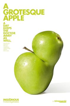 Intermarche: Grotesque apple Intermarche's inglorious fruits and vegetables: a glorious fight against food waste.