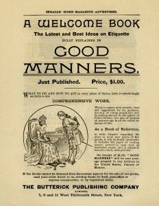 Good Manners ~ Free #Printable Vintage Magazine Advertisement for Victorian Book of Etiquette