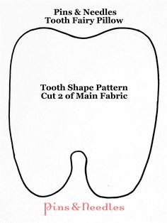 Tooth Pillow and Features Pattern – download here – Part 1 ...