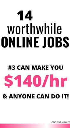 Here are 14 of the best online jobs that pay well. Make money online with these work from home jobs US. Best Online Jobs, Online Jobs From Home, Online Work, Amazon Work From Home, Work From Home Tips, Online Writing Jobs, Freelance Writing Jobs, Earn Money From Home, Way To Make Money