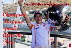 Champion Marquez speaks After the Flag Read at: https://www.facebook.com/MotoFairingsInc For more updates: motofairings.com #Motorcycle #Speedway #MotoFairingsInc #bikes #riders #SuperBike