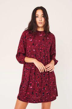 Bordeaux, Bash, Casual Dresses, Short Dresses, Feminine Dress, Sheath Dress, Types Of Sleeves, New Dress, Casual Shorts