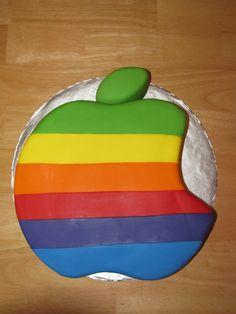 Rainbow Apple logo cake Rainbow Apple Logo, Cake Logo, Themed Cakes, Cake Ideas, Wedding Cakes, Creative, Food, Food Recipes, Theme Cakes