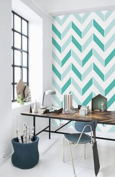 26 Cute Home Decor To Rock This Summer wallpaper removablewallpaper chevron wall Cute Home Decor, Decor, Wall Paint Designs, Interior Decorating Styles, Trending Decor, Home Decor, Contemporary Home Decor, Room Decor, Bedroom Wall Designs