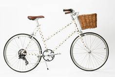 love this gold polka dot bicycle