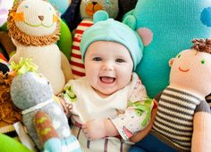 Happy baby in beautiful colors!