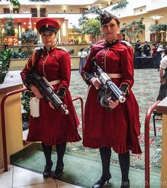 Great steampunk military outfits! Teslacon, photo by qwagstaf23, via Flickr