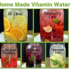 Need to drink more water? TRY THIS! My best friend got me an Infuser Mug and I am drinking more water then ever! This website has tons of recipes for Homemade Vitamin water! Just use a natural veggie and fruit wash first!