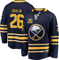 NHL Men s Buffalo Sabres Jack Eichel  9 Breakaway Home Replica Jersey f5949dd62