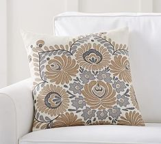 Bedroom pillows - Bea Embroidered Pillow Cover #potterybarn