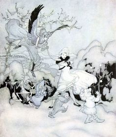 The Dance of Winter and Gnomes by Arthur Rackham