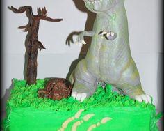 Gâteau T-Rex en fondant T-Rex cake in fondant