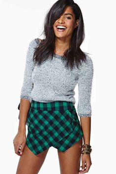 Strut your stuff in high-waisted shorts, denim cutoffs, lace shorts, hot pants & more! Shop womens shorts at Nasty Gal, for casual days or crazy nights out. Short Skirts, Short Dresses, Gal Got, Wrap Skort, Denim Cutoffs, Hot Pants, Fashion Stylist, Passion For Fashion, Gingham