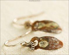 Sterling Silver & Reclaimed Brass Earrings - Jewelry by Jason Stroud.