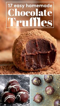17 Easy Extremely Delicious Homemade Chocolate Truffles