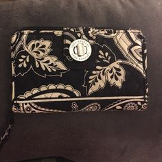 Vera Bradley Black & White Clutch Wallet Large Vera Bradley large sized clutch wallet with plenty of room for ID's and credit cards. The ultimate organizer! Vera Bradley Bags Clutches & Wristlets