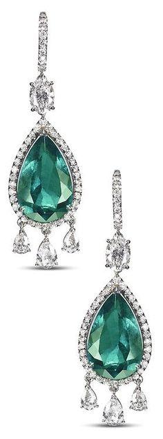 Asprey Emerald Earri beauty bling jewelry fashion