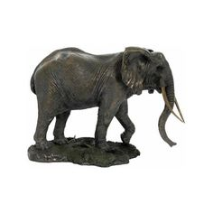 Serengeti Elephant Sculpture, African-Sculptures-Statues, AAWU74733A4... ($155) ❤ liked on Polyvore featuring home, home decor, african statues, african home decor, african sculpture, elephant home accessories and elephant home decor