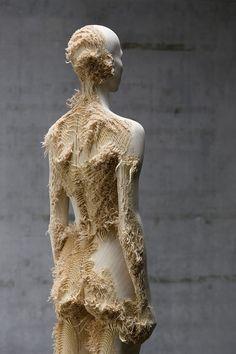 Wooden sculptures by Aron Demetz