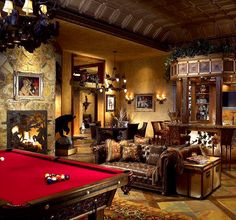 Who says man caves can't have class? #mancave #classic