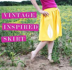 Vintage Inspired Skirt. The simplicity and sweetness of this skirt style is just what I want. I also love the method of applying the waist elastic. I was thinking that this might be an easier way to do waist elastic, and then I find this tutorial to confirm that it works. Cool.