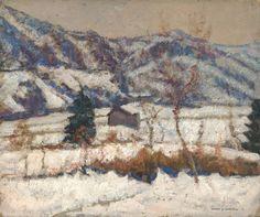 Victor Charreton (French, 1864-1936)  Nearby La Sauvetat, Winter, N/D