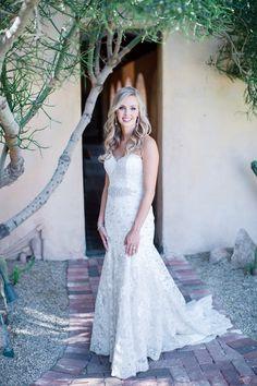 Looking like she's straight out of a magazine! #bride #elegant #wedding #dress #mermaid #silouette #spanish #villa #mediterannean #rustic #venue #Arizona #RoyalPalmsResort #Scottsdale #ParadiseValley #ALWE #destination #weddingplanner #andrealeslieweddings // Planning & Coordinating - Andrea Leslie Weddings & Events // Photography - I Do Photography // Venue - Royal Palms Resort, AZ //