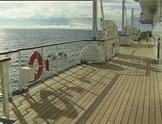 Promenade deck of Crystal Harmony  - CLICK ON THE PICTURE TO WATCH THE VIDEO The Visitors, Watch Video, Video Clip, Deck, Ship, Patio, Crystals, Outdoor Decor, Pictures
