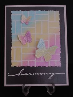 Bricks 'n Butterflys by bubblestx4 - Cards and Paper Crafts at Splitcoaststampers