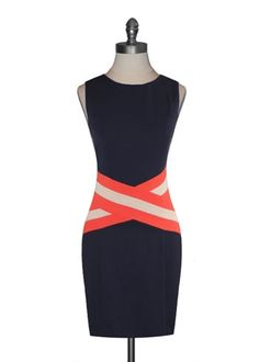 C. Luce Bold Stripes Dress