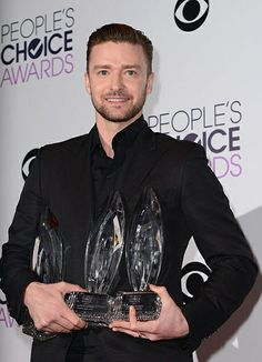 Justin Timberlake poses backstage during The 40th Annual People's Choice Awards at Nokia Theatre L.A. Live on January 8, 2014 in Los Angeles, CA