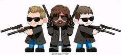 cute! The Boondocks Saints: Connor, Rocco and Murphy.