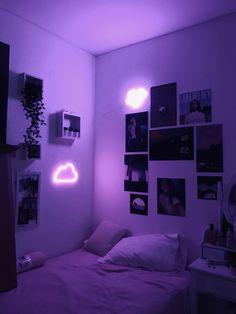 Neon Bedroom, Cute Bedroom Decor, Room Design Bedroom, Room Ideas Bedroom, Apartment Bedroom Decor, Apartment Furniture, Bedroom Colors, Apartment Design, Chill Room