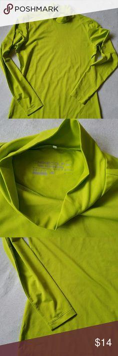 Nike Golf dri-fit mock turtleneck  size L EUC looks like new. Neon green Nike Golf tournament performance  dri-fit mock turtleneck. Length ca. 27.5 inches 88% polyester  12%spandex. Nike Shirts