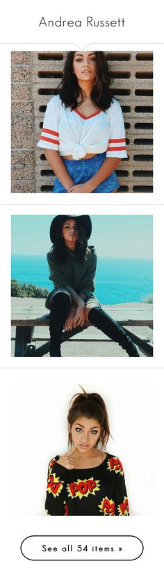 """""""Andrea Russett"""" by beingmyselfaf ❤ liked on Polyvore featuring AndreaRussett, andrea, models, andrea russett, pictures, people, hair, faces, youtube and andrea russet"""