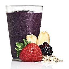 Shake Antioxidante e Termogênico 3 colheres de aveia 120 ml de leite magro 1 colher de chá de gengibre ralado 100g de frutos vermelhos