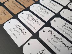 Groom Survival Kit Tags - Groom Box Tags - Groom Gift Tags - Groom Gift from Bride - Groom Gift Box Tags - Wedding Gift Tags - Set of 12