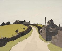Artwork by Sir Kyffin Williams, Farms above Waunfawr, Made of Oil on ...