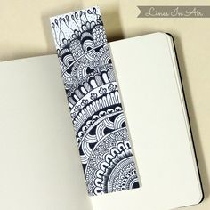 Doodle Bookmark :) www.youtube.com/user/linesinair #bookmark #diy #doodle
