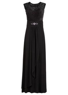Vestido longo com renda preto encomendar agora na loja on-line bonprix.de  R$ 199,00 a partir de Vestido para a noite, sem mangas e muito feminino, indicado ...