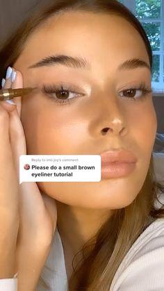 Cute Makeup, Pretty Makeup, Makeup Art, Makeup Hacks, Eyeliner Hacks, Hair Hacks, Easy Eye Makeup, Subtle Eye Makeup, Beauty Makeup