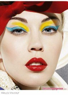 retro Bold Two-Tone Makeup